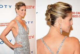 images of braids with french roll hairstyle heidi klum wears the french twist pin hairstyle hair romance