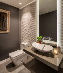 santa barbara textured wall treatments powder room contemporary