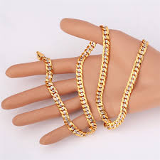 gold tone chain necklace images Hiphop yellow gold color two tone chains for men fashion jewelry jpg