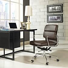 Office Chair Top View Amazon Com Modway Discovery Mid Back Leather Conference Office