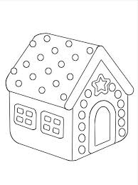 gingerbread house coloring pages kids coloringstar