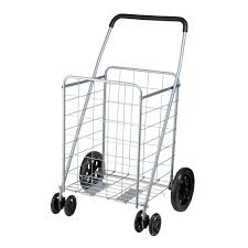 Home Depot Cart by Honey Can Do Steel Rolling Dual Wheel Utility Cart In Gray Crt