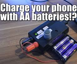charge your phone with aa batteries 3 steps