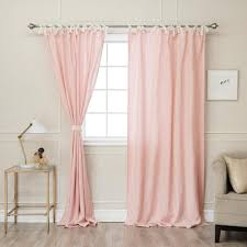 Tie Top Curtains Best Home Fashion Pink 84 In L Abelia Belgian Flax Linen Lace Tie