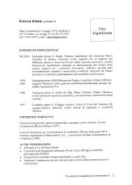 curriculum vitae formato pdf da compilare curriculum vitae curriculum vitae template italiano