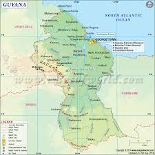 Geographical Map Of South America by Guyana Map Map Of Guyana