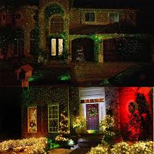 clearance dual color christmas light projector waterproof