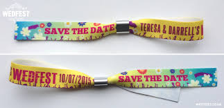 Make Your Own Save The Dates Festival Style Wedding Wristbands Wedfest