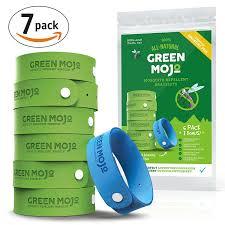 natural mosquito repellents amazon com green mojo 100 natural mosquito repellent bracelet