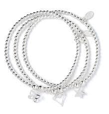 star silver bracelet images Sterling silver rice noodle ball bead bracelet jpg