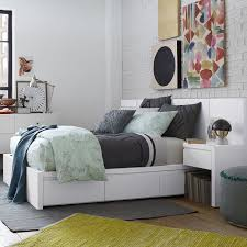 Storage Bed With Headboard Storage Bed Headboard White West Elm