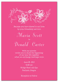 pink wedding invitations coprinted pink wedding invitations