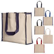 canvas tote bag w side stripes handbag personalized tote bags