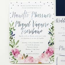 wedding invitations cape town pretty polka dot floral wedding invitation set blooming wonderful