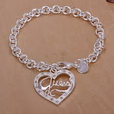 guess bracelet silver images Guess peach heart shape bracelet a jpg