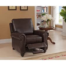 Brown Leather Recliner Fulton Brown Premium Top Grain Leather Recliner Chair Free