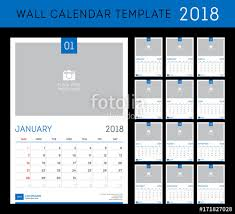 desk calendar template for 2018 year set of 12 months