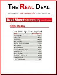 Estate Deal Sheet Template Winick Daily The Estate Deal Sheet Summary