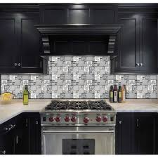 TST Stainless Steel Mickey Mouse Tiles Mirrored Glass Water Drops - Metal tiles backsplash