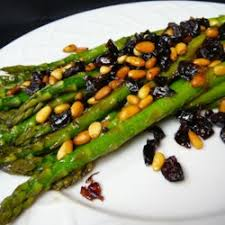 asparagus with cranberries and pine nuts recipe allrecipes
