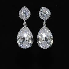 wedding earrings bridesmaid earrings bridal jewelry cubic