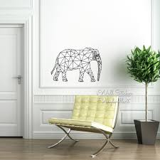 Decoration Geometric Wall Decals Home by Geometric Elephant Wall Sticker Elephant Wall Decal Modern Living
