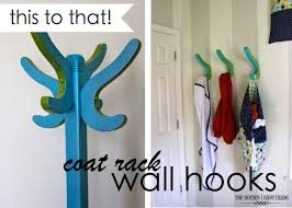 coat rack wall hooks from this to that the homes i have made coat rack wall hooks from this to that