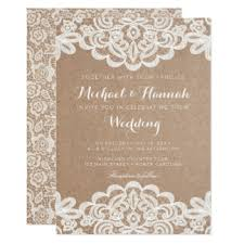 kraft paper wedding programs kraft paper invitations announcements zazzle