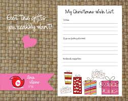 printable your own wish list a bright