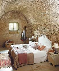 natural rock wall for rustic bedroom ideas with simple bed side natural rock wall for rustic bedroom ideas with simple bed side cute hanger closed small window above trunk on nice floor plus armature