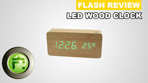 membuat jam digital dengan flash usb led wood clock digital review indonesia flash gadget store