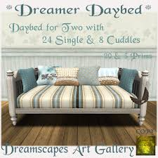 second life marketplace dreamer daybed daybed for two with