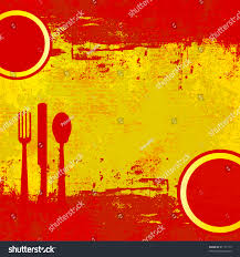 The Flag In Spanish Spanish Menu Template Over Flag Spain Stock Illustration 81177175