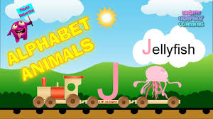 kids learn the alphabet with animal pictures abc learning train
