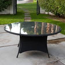 Round Garden Table With Lazy Susan by 48 Glass Table Top Crackle Glass Table Top Crackle Modern Home