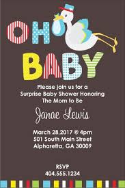 stork baby shower oh baby stork baby shower invitation personalized party invites