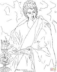 apostle st john the evangelist by el greco coloring page free