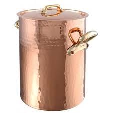 ustensile de cuisine en cuivre mauviel 2157 bain à potage en cuivre intérieur étamé avec monture