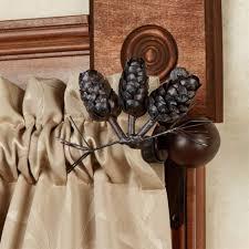 Rubbed Bronze Curtain Rod Elegant Threshold Pine Cone Drapery Rod Oil Rubbed Bronze Curtain