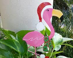 christmas flamingo etsy