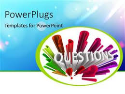 powerpoint template young lady asking questions with question