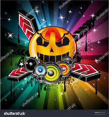 halloween abstract abstract halloween rainbow disco music background stock vector