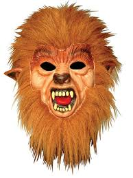 full teen wolf werewolf rubber face mask u0026 hair halloween fancy