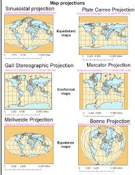 What Is A Map Projection Expedition Earth Different Map Projections Of The World