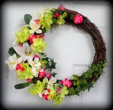 spring summer wreath wall decoration door decor outdoor