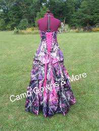 muddy camo dress gown with pick up skirt design