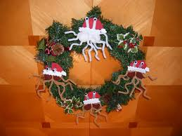 flying spaghetti wreath ornaments crafty x