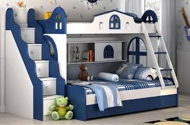 Children Bunk Bed Children Bunk Bed With Guardrail Environmental Protection Bed Boys