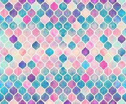 Wallpaper For Walls Teal And Pink Rainbow Pastel Watercolor Moroccan Pattern Wallpaper Micklyn