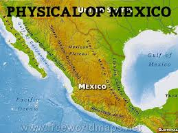 Physical Map Of Mexico by Mexico By Beth Baker Knuttila